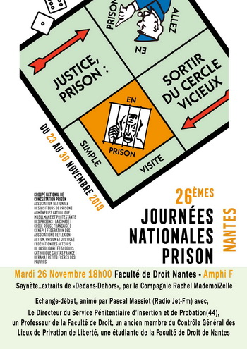 Affiche Journée Nationale Prison 2019