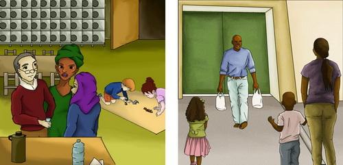 Expliquer la prison aux enfants et  préparer les retrouvailles de la sortie