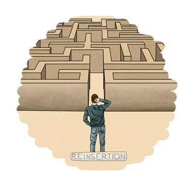 la réinsertion un labyrinthe