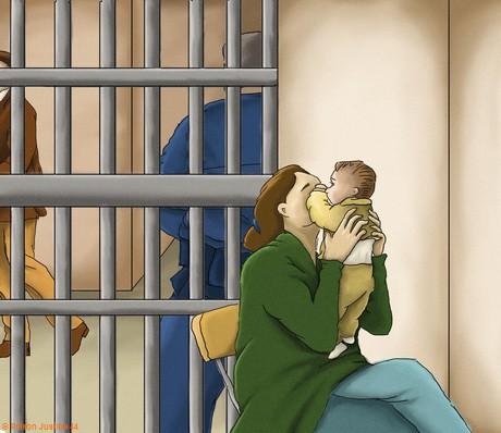 Femmes en détention parfois avec des bébés