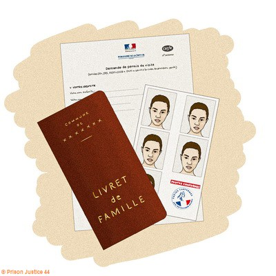 Le permis de visite est obligatoire et fait l'objet d'une demande très formalisée.