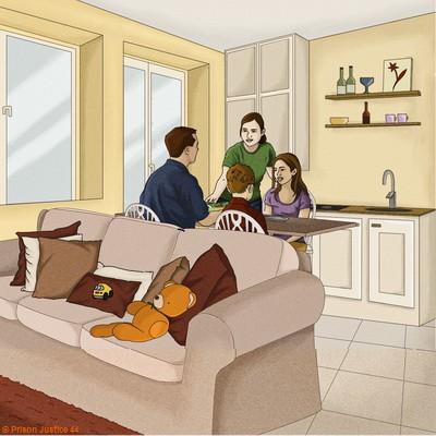 L'unité de vie familiale (UVF) un mini appartement mis à la disposition des personnes détenues et de leur proches pour se retrouver.