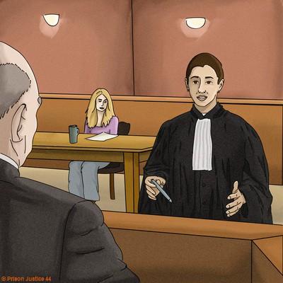 Le défense : l'avocat à la barre