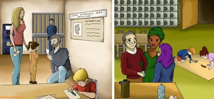 Double illustration : être bénévole c'est accueillir, écouter, être bienveillant