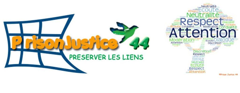 Logo Association Prison Justice 44 et arbre des valeurs
